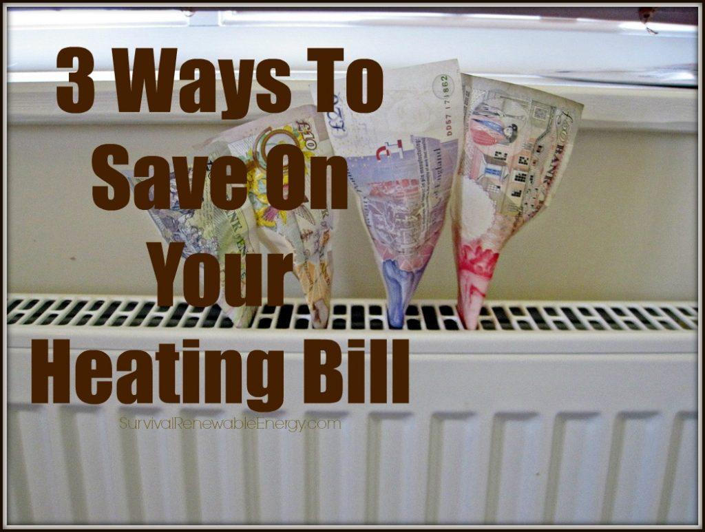 3 maneras de ahorrar en su factura de calefacción