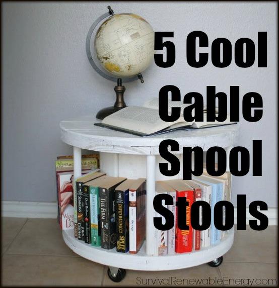 5 Taburetes de bobina de cable frío