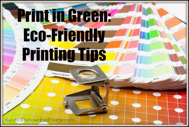 Imprimir en verde: Consejos para la impresión ecológica