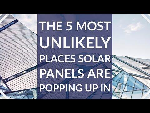 Paneles solares están apareciendo en los lugares más improbables 1