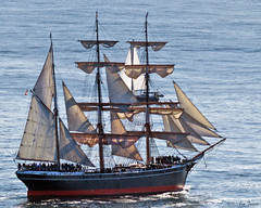 Star of India, world€0027s oldest active sailing ship, during annual re-certification.
