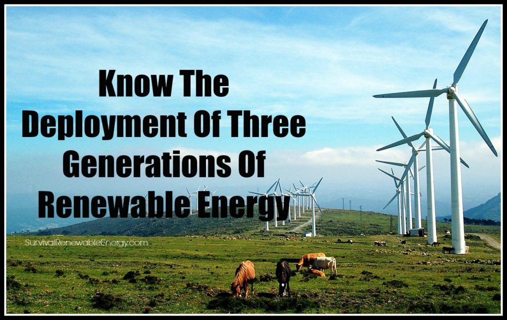 Conocer el Despliegue de Tres Generaciones de Energía Renovable